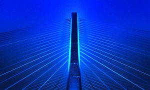Indian River Bridge North Stanchion Night