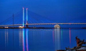 Moonrise at Indian River Bridge