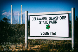 Delaware Seashore State Park South Inlet Sign